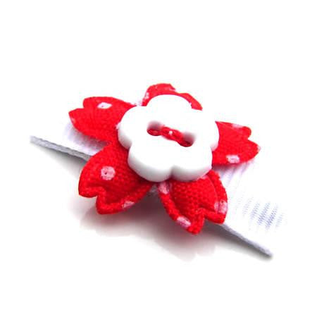 Mini Button Flower Hair Clip - Hair Clip - Baby Hair UK