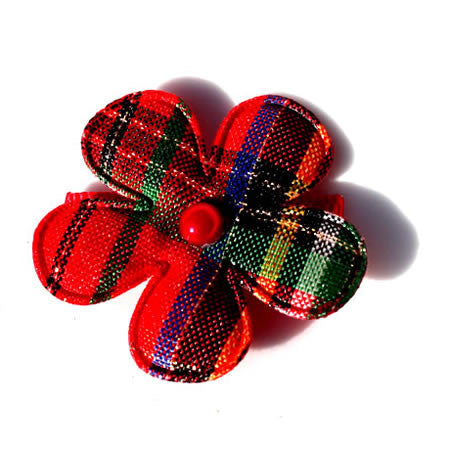 Christmas Check Flower - Christmas Collection - Baby Hair UK