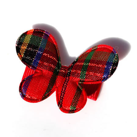Christmas Check Butterfly - Christmas Collection - Baby Hair UK