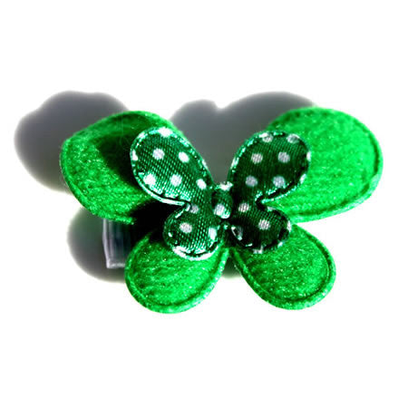 Christmas Green Layered Butterfly - Christmas Collection - Baby Hair UK