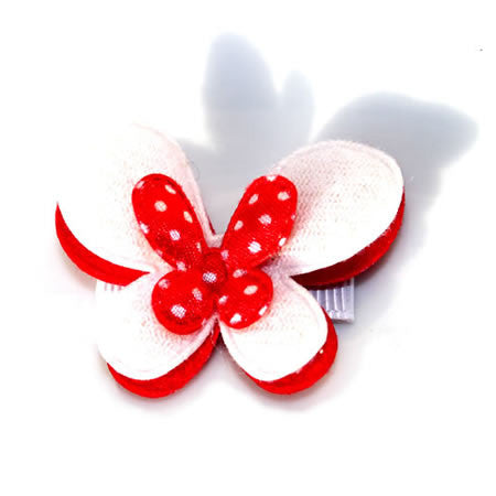 Christmas Red Triple Layered Butterfly - Christmas Collection - Baby Hair UK