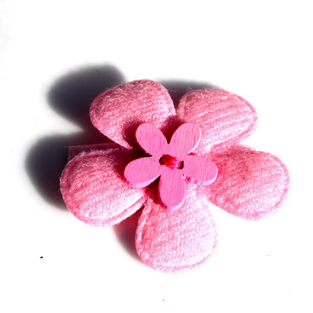 Flower with Button Hair Clip - Hair Clip - Baby Hair UK