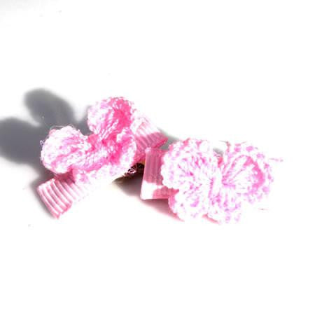 Crochet Butterfly Alligator Hair Clips - Hair Clip - Baby Hair UK