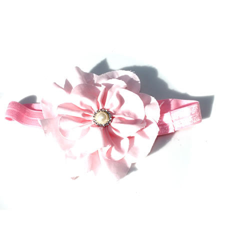 Pink Vintage Cotton Flower - Wedding Collection - Baby Hair UK