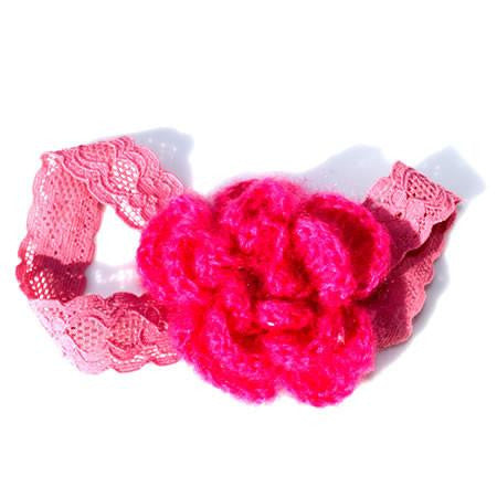 Dusty Pink Mohair Flower Headband - Headbands - Baby Hair UK