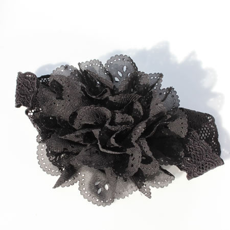 Ruffle Flower Headband - Headbands - Baby Hair UK