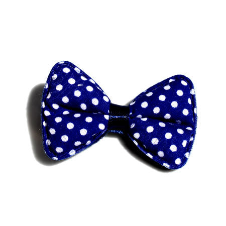 Large Polka Dot Padded Bow Hair Clip - Hair Clip - Baby Hair UK