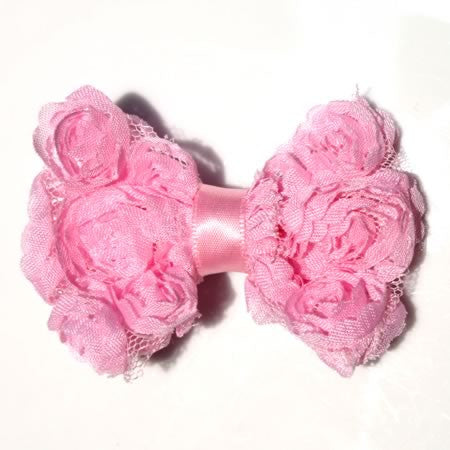 Large Ruffle Rose Bow Hair Clip - Hair Clip - Baby Hair UK