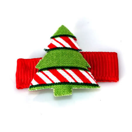 Patterned Christmas Tree Clip - Christmas Collection - Baby Hair UK