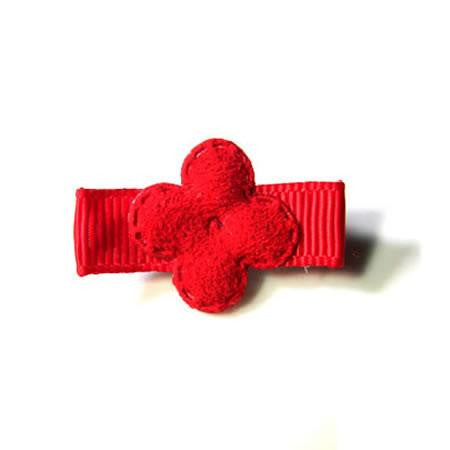 Mini Suede Flower Hair Clip - Hair Clip - Baby Hair UK