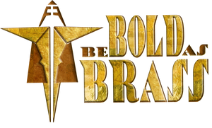 bold as brass logo guilded scales art deco style