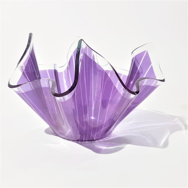 Purple Chance Brothers Glass Handkerchief Vase - Be Bold As Brass