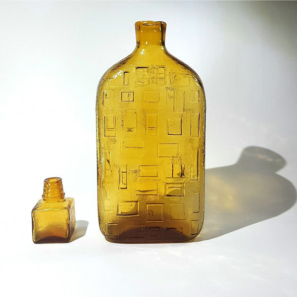 Empoli Amber Glass Decanter - Be Bold As Brass