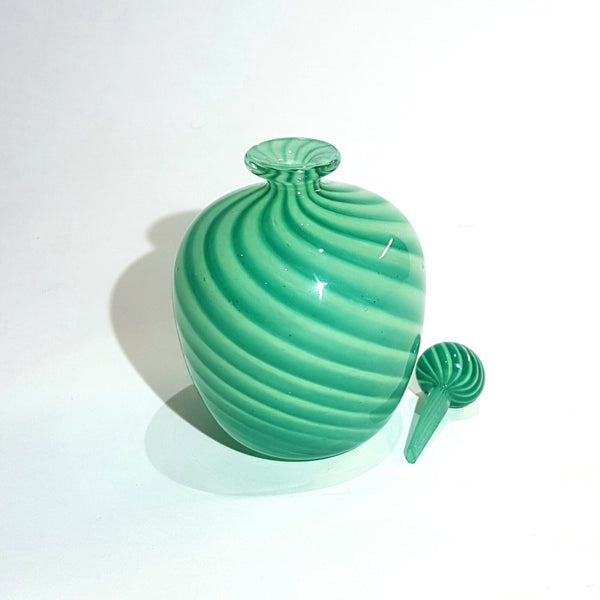 Rare Studio Art Glass Perfume Bottle from Guernsey Circa 1980's, Marked.