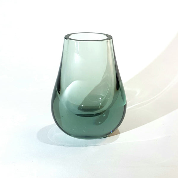 Whitefriars / Baxter Ocean Green Hambone Glass Vase 9571 - Be Bold As Brass