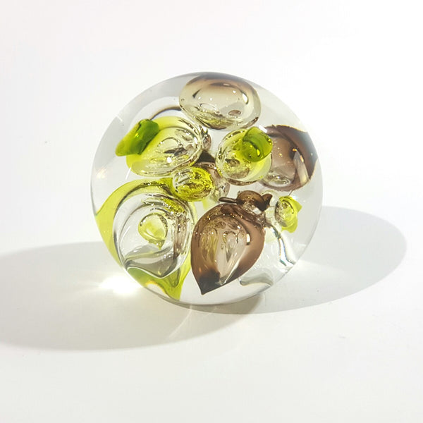 Dazzling Vintage Art Glass Paperweight By Langham of England