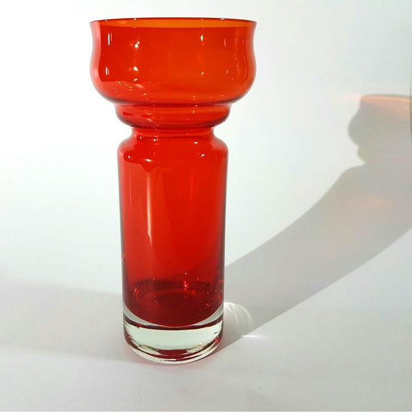 A Beautiful Red Vase by Tamara Aladin for Riihimaki, Finland circa 1970's. - Be Bold As Brass