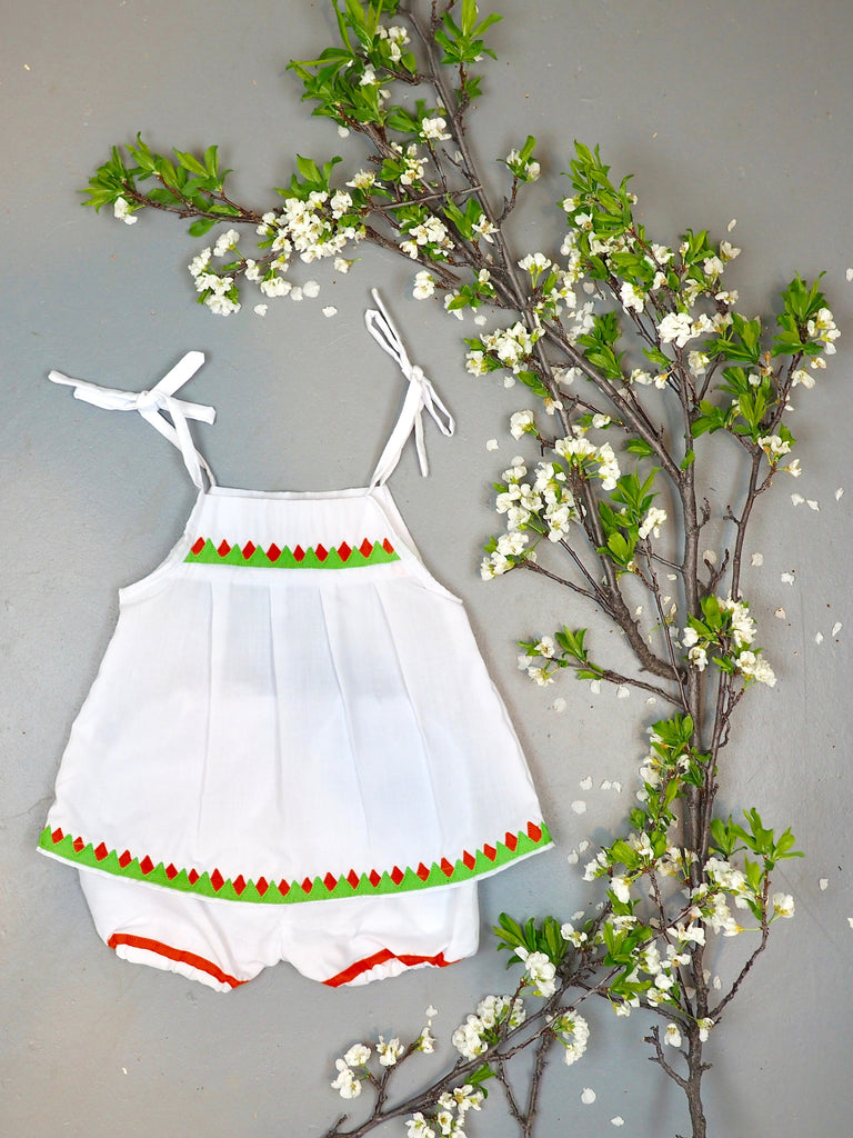 Lime Snowcone Bloomer Set
