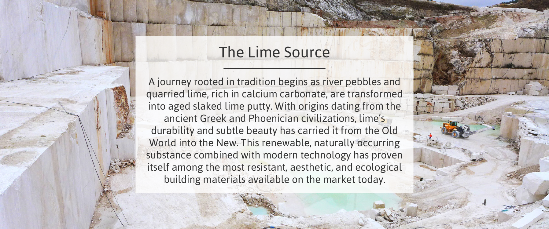 The lime source