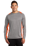 Sport-Tek® Long Sleeve Heather Colorblock Contender™ Tee