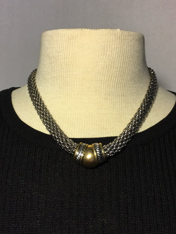 Magnetic Gold & Silver Necklace