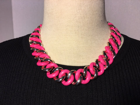 PLASTIC lightweight Necklace (5 colors)