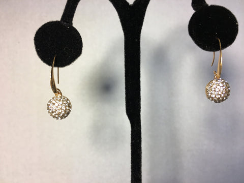 Rhinestone Gold Earrings