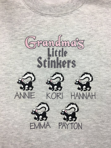 Grandma's Little Stinkers Grey Crewneck Sweatshirt