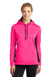 Sport-Tek® Ladies Sport-Wick® Fleece Colorblock Hooded Pullover