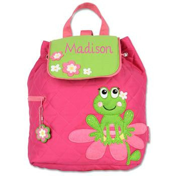 Frog Quilted Backpack (Girl)