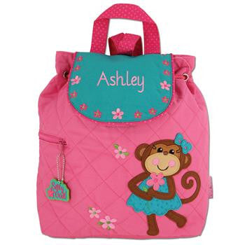 Girl Pink Monkey Backpack