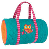 Girls Owl Quilted Duffle