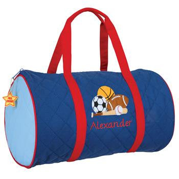 Boy Sports Quilted Duffle