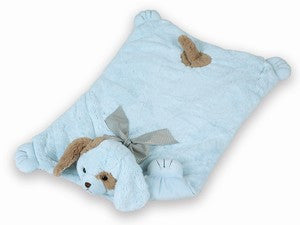 Waggles Blue Dog Baby Floor Blanket