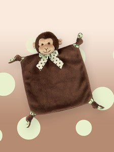 "Giggles Monkey Small Lovie Blanket (9""x 8"")"