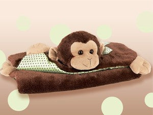 Giggles Monkey Belly Blanket