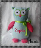 Personalized Stuffed Owl