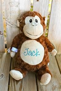 Personalized Stuffed Monkey