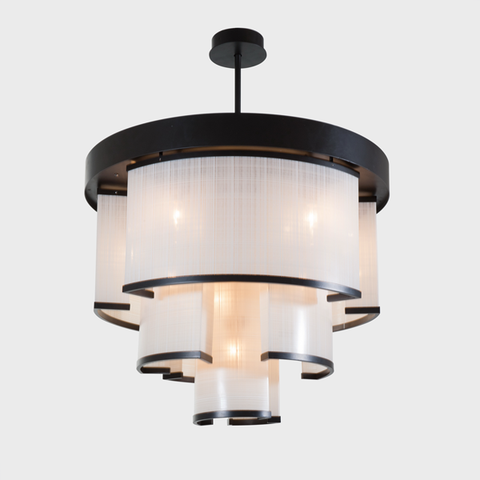Tramaine Linen Chandelier by The Vault