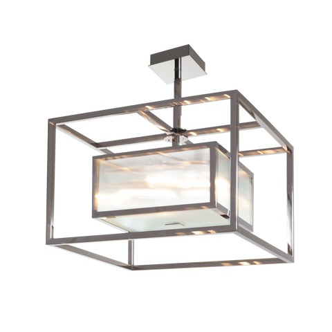 Upton Polished Nickel Pendant - The Vault