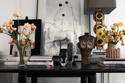 Table arrangement in the home of Clare Waight Keller