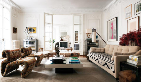 Living room of the Home of Clare Waight Keller