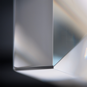 Close up of the glass corner of the Ann Arbour Glass Wall Sconce