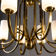 Aries Vintage Brass Chandelier