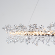 Detail of lighting ring of the Cadenza LED Light Round Chandelier from The Vault