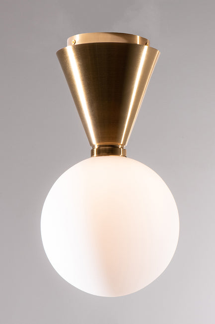 AMANDE WHITE GLOBE CEILING LIGHT