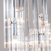 Close up of glass tube pendants of the Eden Multi Spot Glass Pendant