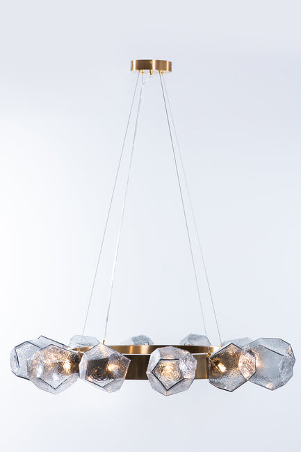 Emille Geometric Glass Chandelier