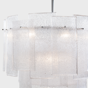 Side closeup view of the Galjour Murano Glass Chandelier