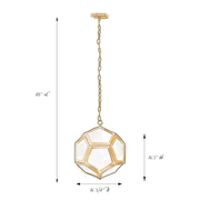 Lamont Antique Brass Pentagon Pendant Light (PRE-ORDER)